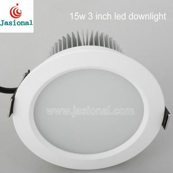 15W Downlight LED de 3 pulgadas, 3 pulgadas de luces LED, Luces Empotrables LED de 3 pulg.