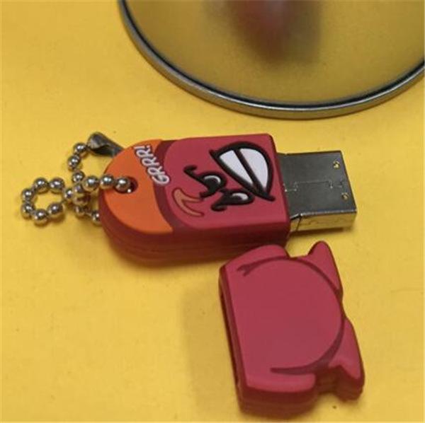 Tapa protectora Shap animal lindo del USB del silicón divertido