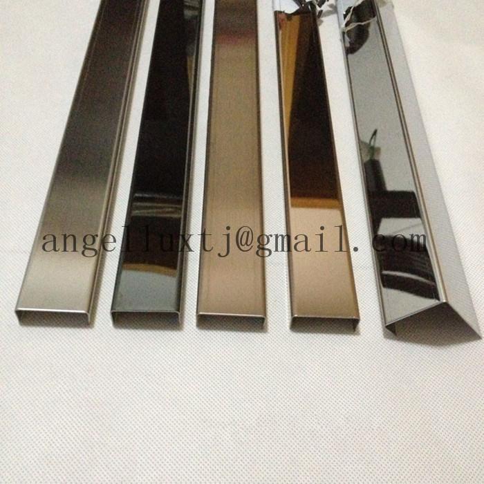 Silberne Wand glänzende silberne edelstahl kantenschutz wand dekoration profil