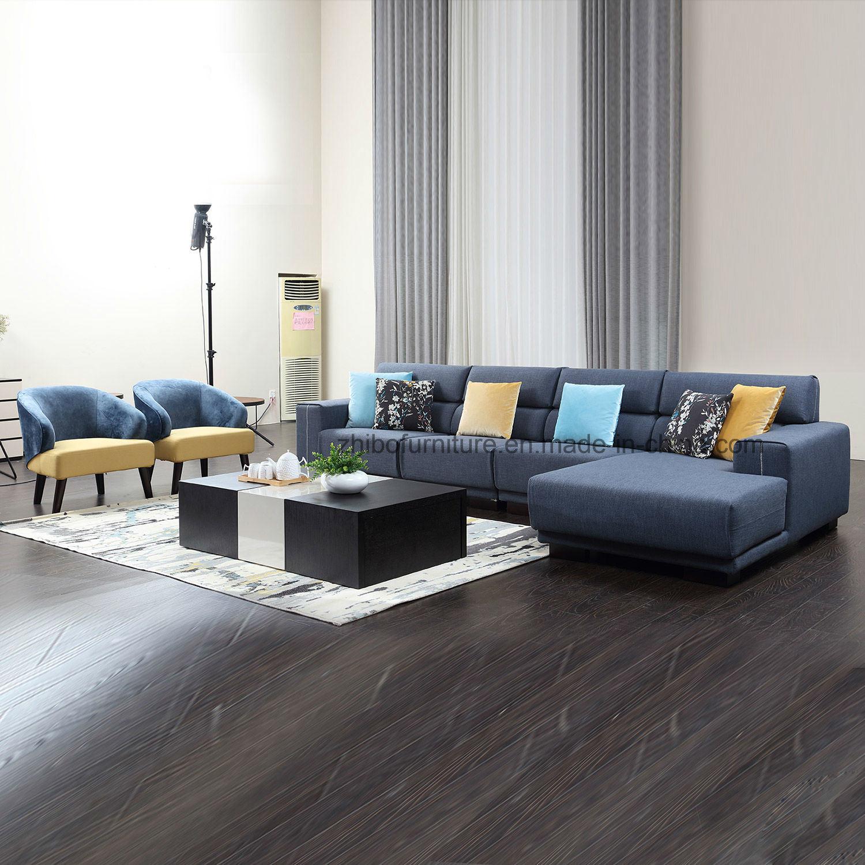 Beeindruckend Hellblaues Sofa Das Beste Von Nordischer Entwurfs-blaues Eckmöbel-gewebe-sofa Für