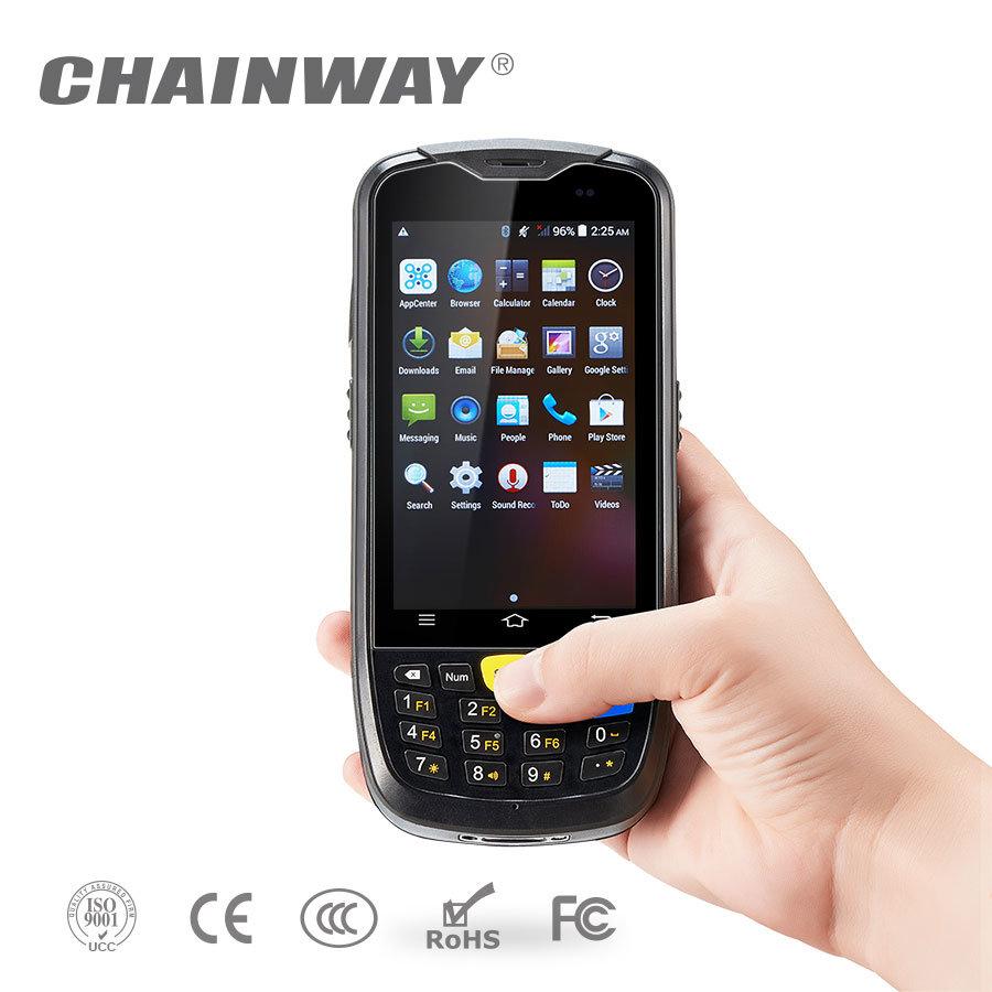 Chainway C6000のRFID /3G/4G/WiFi/Bluetooth/GPS/カメラの人間の特徴をもつ手持ち型のバーコードのスキャンナー
