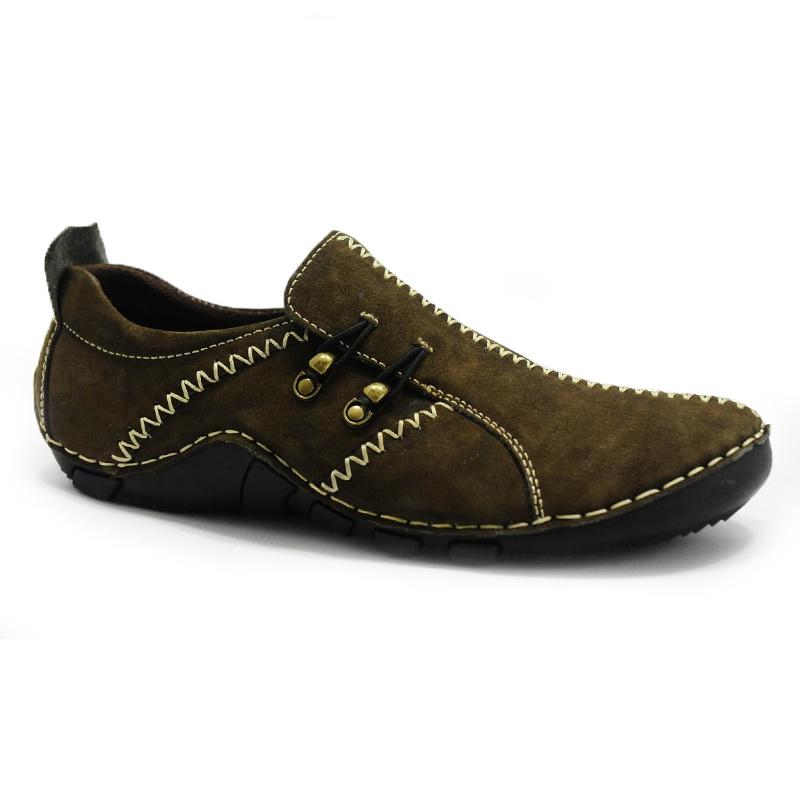 Mode d'hommes en cuir nubuck occasionnel des chaussures en