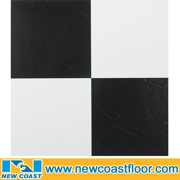 Mattonelle di pavimento in bianco e nero del vinile for Mattonelle in vinile