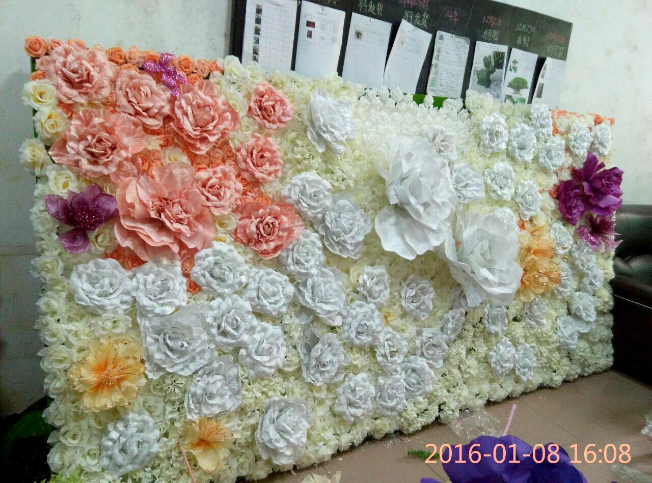 d coration de mur de fleurs artificielles de mariage photo. Black Bedroom Furniture Sets. Home Design Ideas