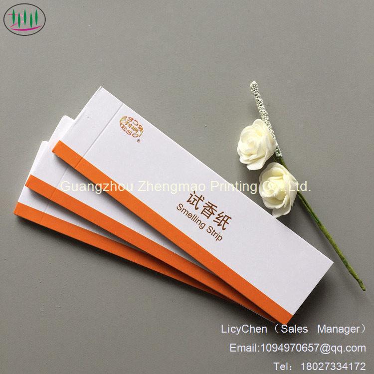 Nouvelle arrivée, une odeur de parfum de bonne qualité des bandes de forme personnalisé du papier absorbant pour le parfum du papier d'essais de parfum