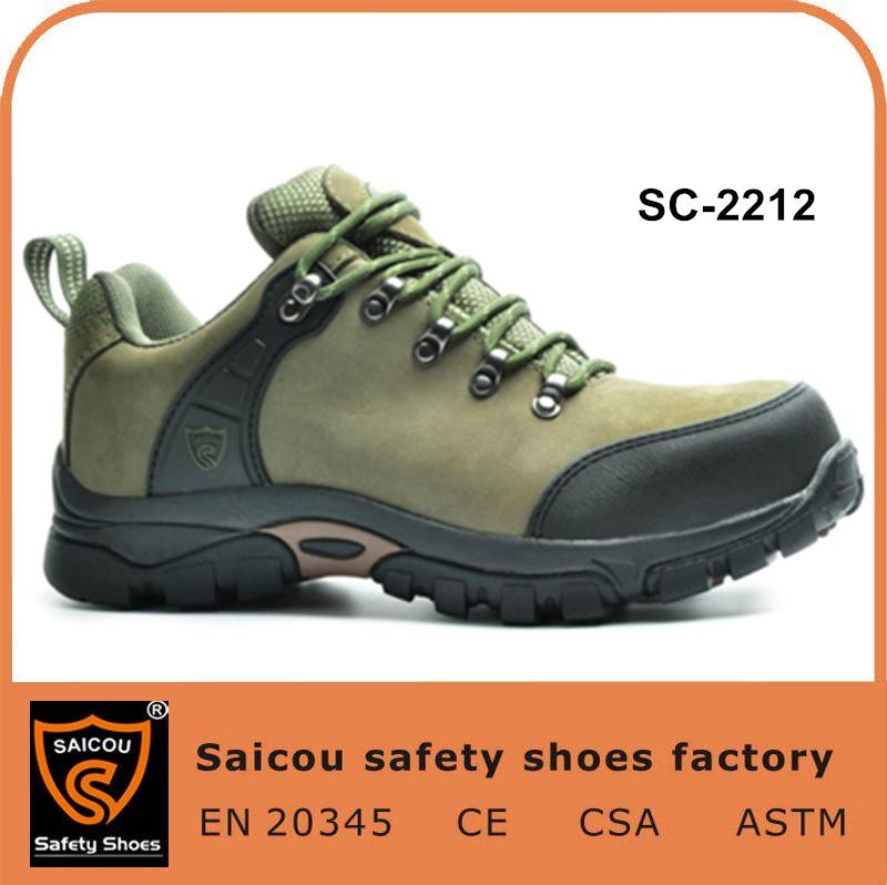 Wandern u. beiläufige Sicherheits-Schuh-und Mann-lederne Schuh-beständige Sicherheits-Aufladungen Sc-2212
