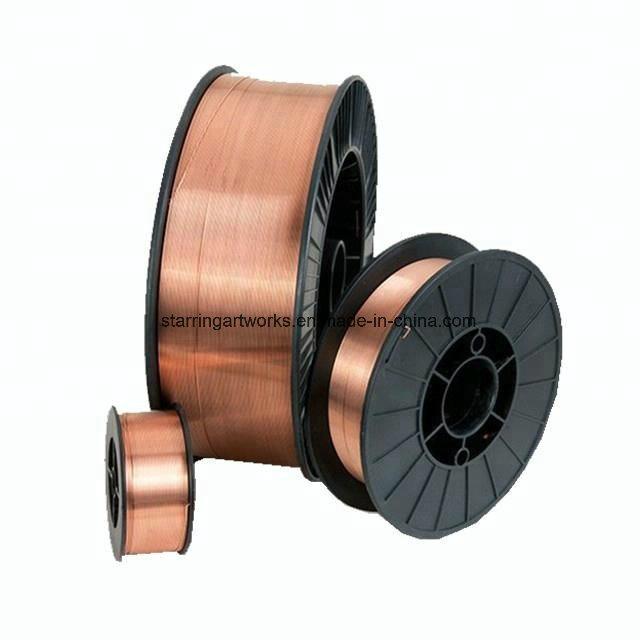 Commerce de gros d'usine AWS ER70S-6 MIG/Type de soudure TIG-0.9cuivre 0,8 mm mm mm mm-1.0-1.2gaz CO2 Fils à souder blindée