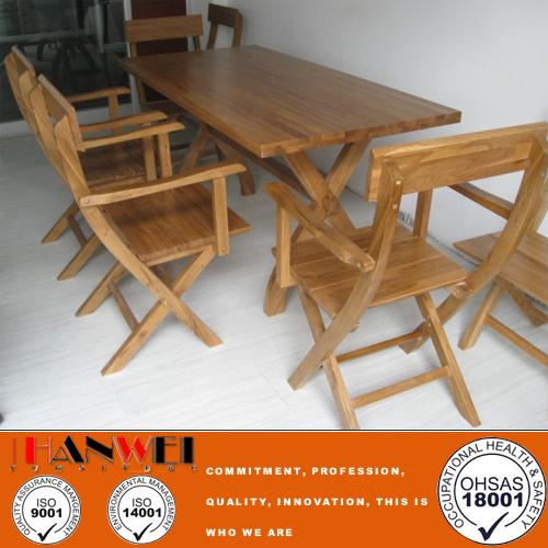 mesa y silla de roble al aire libre muebles de madera