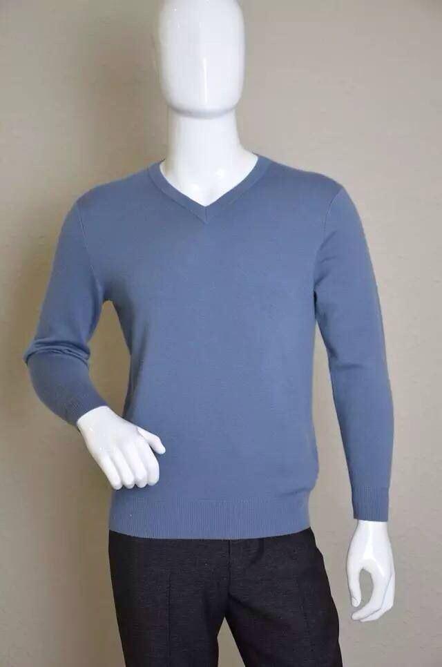 La mens tejer con cuello en V Pure Cashmere Sweater – La mens tejer ...