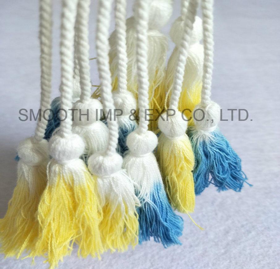 Form-Zusatzgeräten-dekoratives Vorhang-Kleid-Material-Troddel-Gleichheit-Riemen-Gewebe