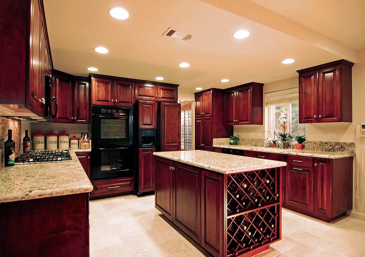 Amerikanischer Art-Küche-Möbel-festes Holz-Küche-Schrank foto auf ...