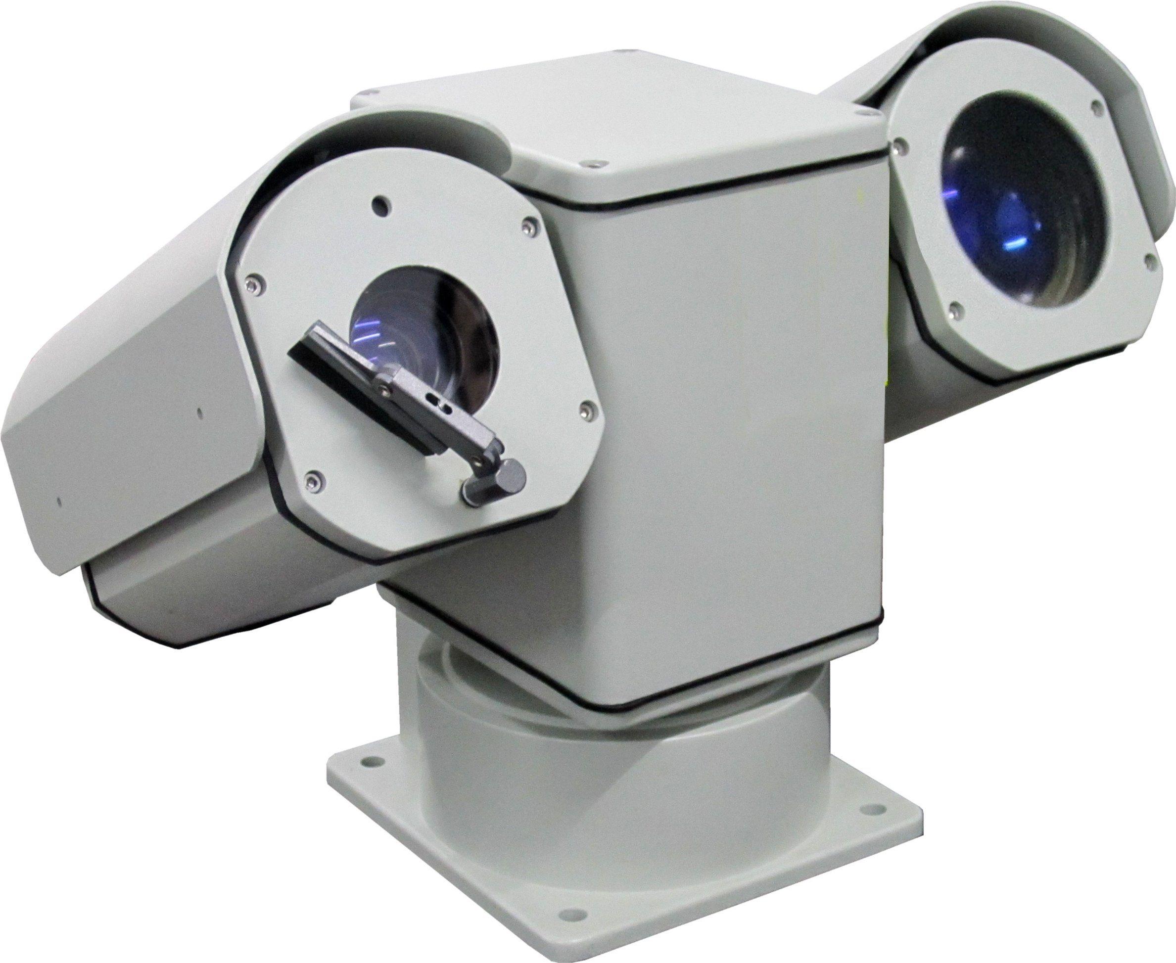 El peso de la luz exterior 30X HD 4K@15fps cámara PTZ Láser 1km