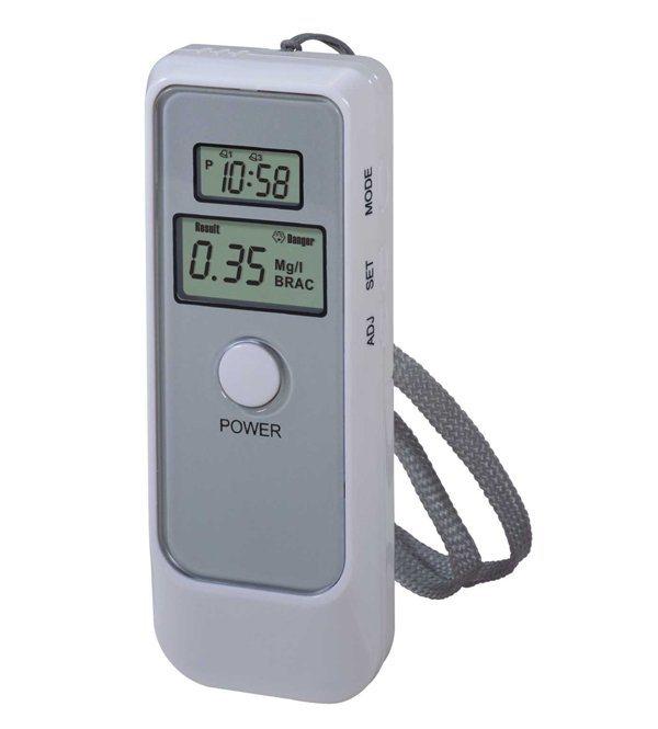 Capteur de semiconducteur numérique portable de l'alcool alcootest Testeur d'alcool avec la clé de la chaîne (6389)