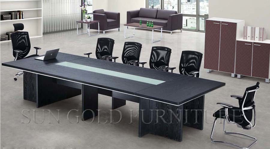 Table de réunion en bois de luxe de meubles de bureau de vente en
