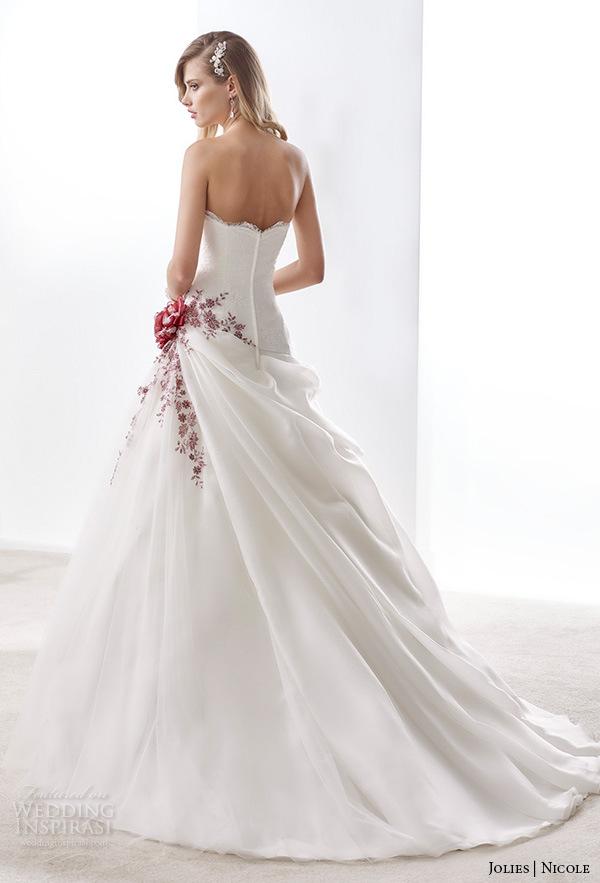 Wein-Spitze-Brautkleid-Farben-Akzentnicole-Hochzeits-Kleid H5216 ...