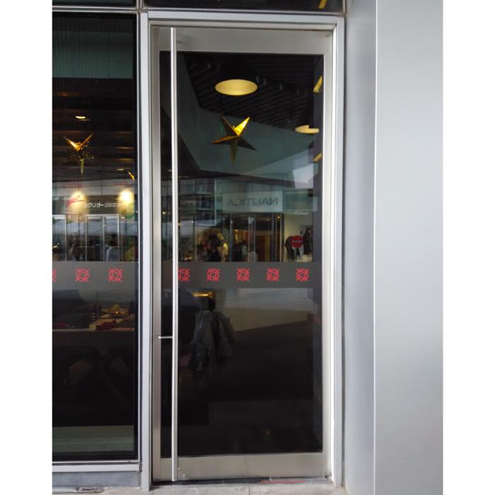 Marco de aluminio Puerta batiente individual con Tublar Maneja ...