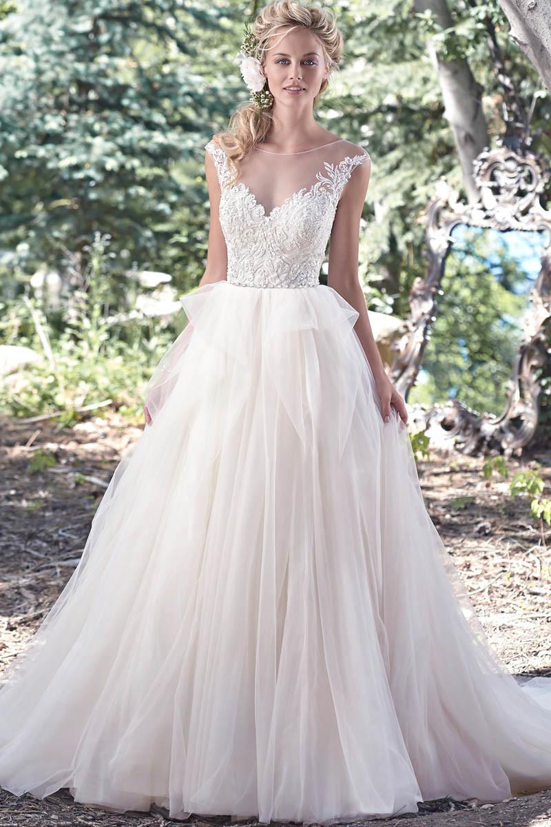 V-Stutzen Tulle-Brautballkleider plus Größen-Spitze-Hochzeits-Kleid ...