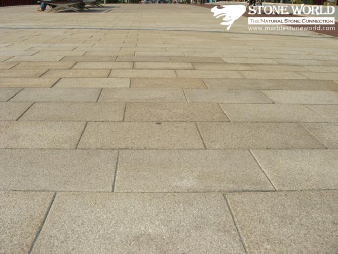 Foto de pavimento de granito amarillo baratos natural para el exterior de piedra de - Gres porcelanico barato ...