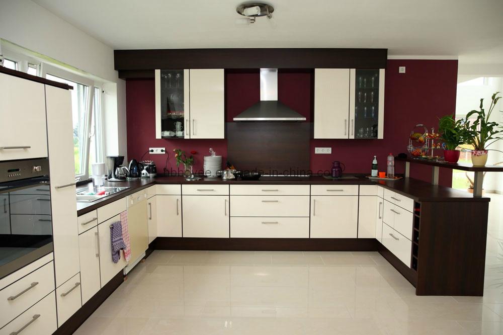 Alto brillo y laca mate/MDF Acabado en pintura de laca kitchen ...