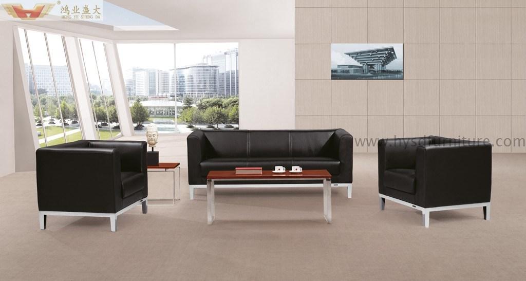 Metallrahmen Echtes Leder Buro Sofa Gesetzter Moderner Buro Sofa