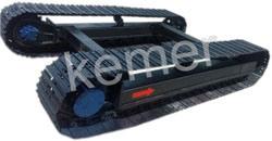 El tren de rodaje de orugas de acero (para la excavadora, taladradora etc.).