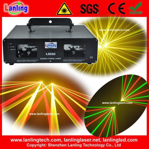 Bon spectacle de lumière laser double tête de l'équipement