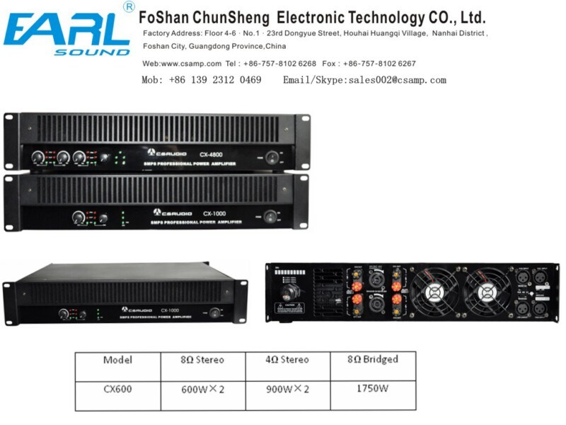 alto potere 2channel Switching Power Amplifier (CX600) di 2u Class H