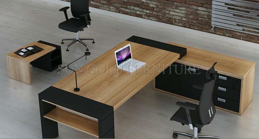 Mobilier de bureau moderne en bois grand bureau exécutif sz od