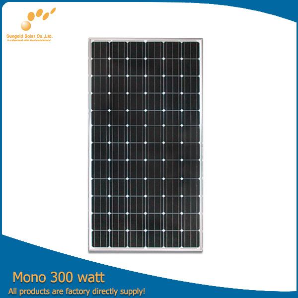 China Grado De Un Panel Solar De 300w Con Bastidor Y Mc4