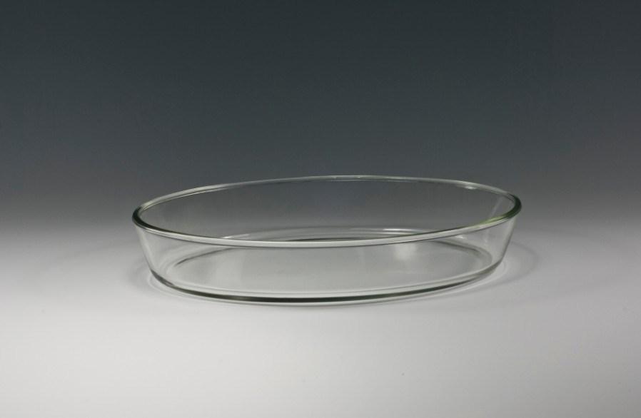 Plaat/Schotel van het Baksel van het Glas van Borosilicate de de Ovale (O01, O02)