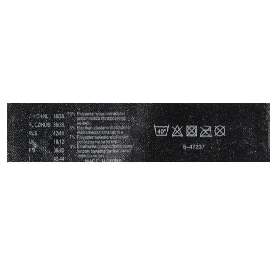Etichetta nera stampata del raso