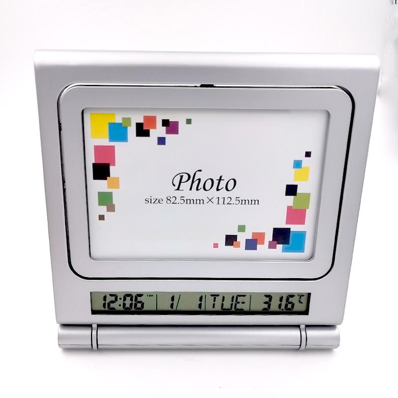 Foto-Rahmen-Tisch-Alarmuhr-Kunst-Abbildung-Taktgeber-Wohnzimmer