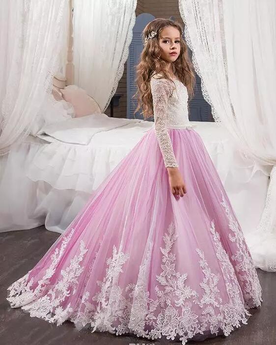 Foto de Tul de color lila niñas vestidos de PROM de rendimiento de ...
