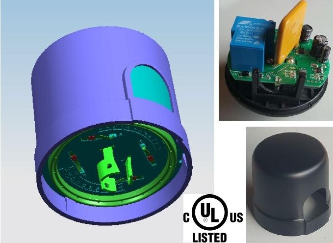 Contrôle de la lumière de gradation Intellegent Photocontrol cellule photoélectrique pour l'éclairage LED