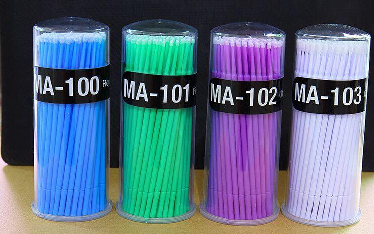工場卸し売り新しく最も安く多彩な歯科マイクロアプリケーターのNon-Lintingのブラシのまつげの拡張ナイロン綿棒