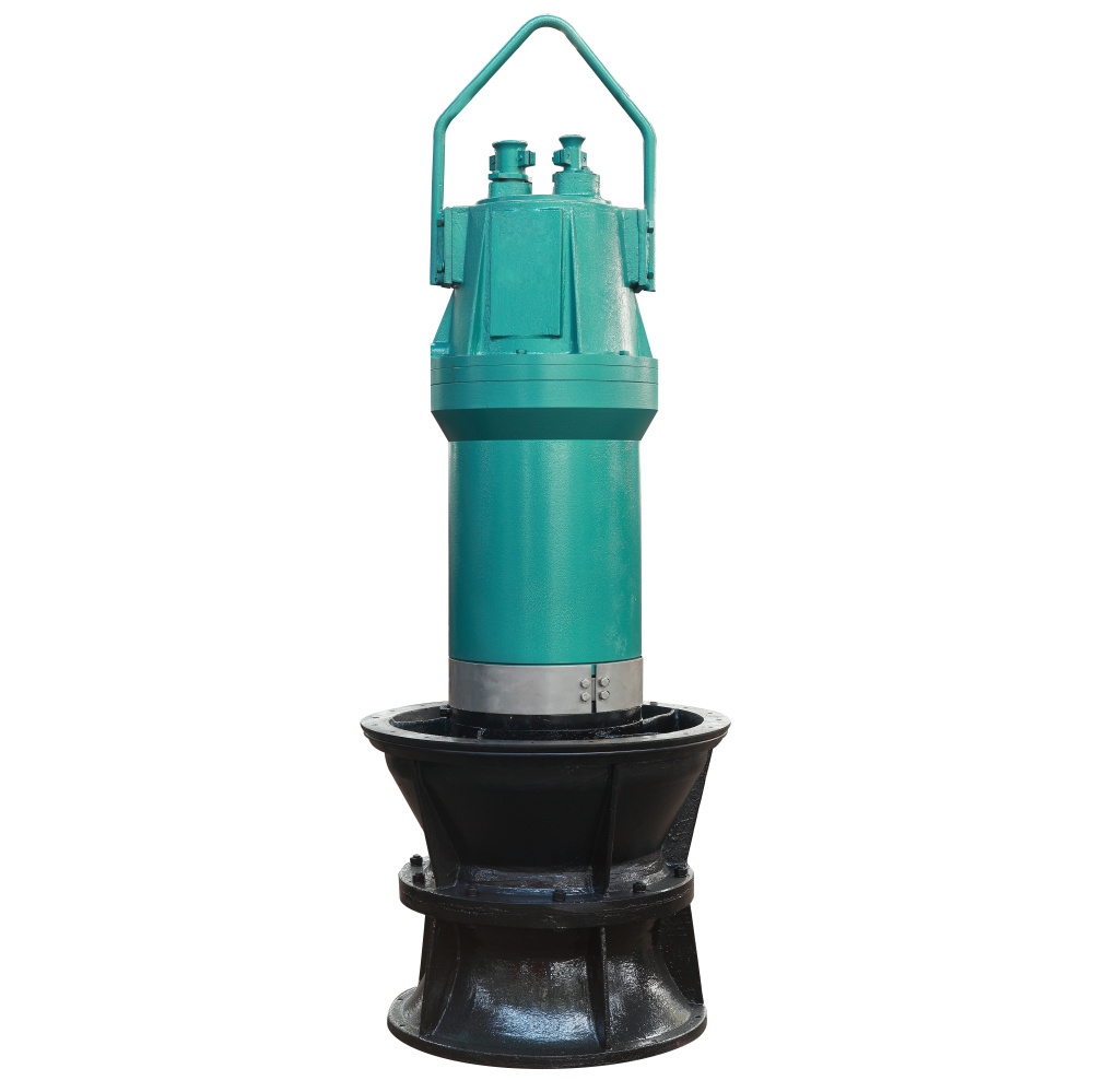 縦の浸水許容の軸流れおよび混合された流れポンプ
