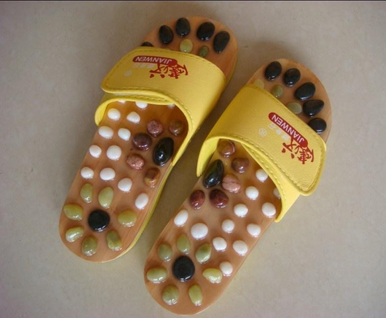 Zapatos Zapatos de masaje de piedra amarilla