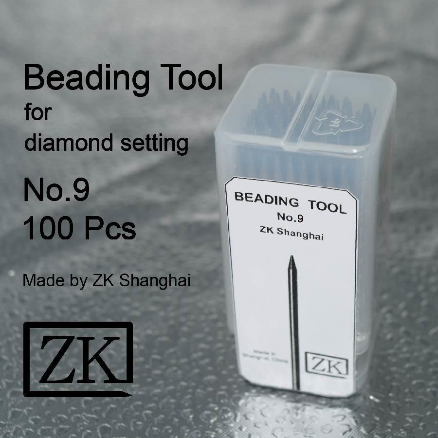 Cordón de herramientas para joyería - Nº 9 de 100 piezas - Micro allanar Herramientas de configuración