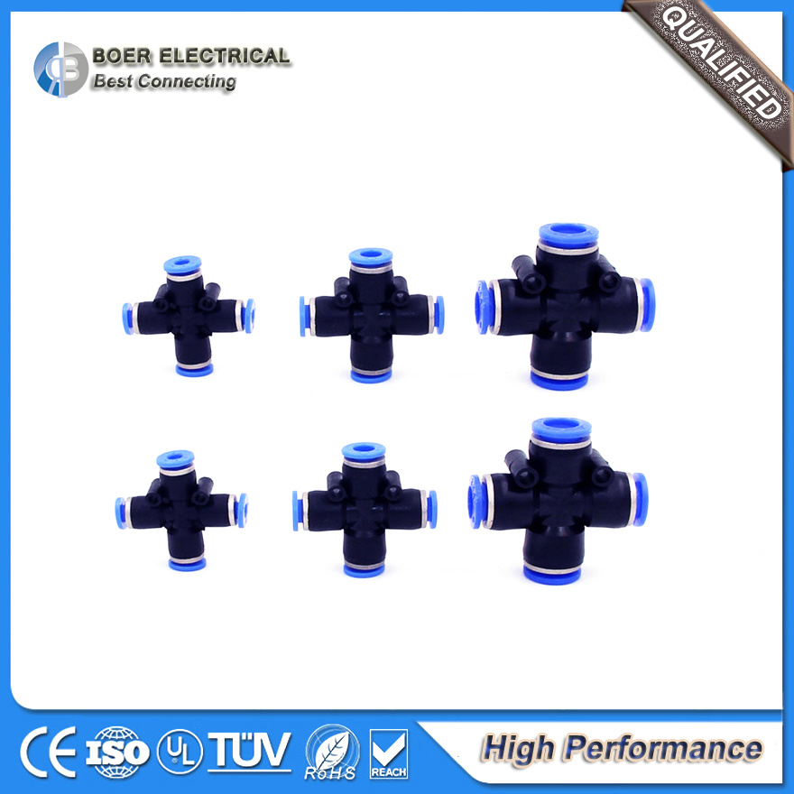 Tipos de conectores neumáticos e hidráulicos