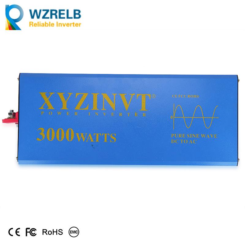 WZRELB Convertisseur de Puissance Solaire /à Onde sinuso/ïdale 2 500 W 12 V