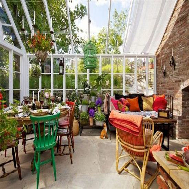 Material de la cubierta de vidrio de bajo coste de efecto invernadero de jardín