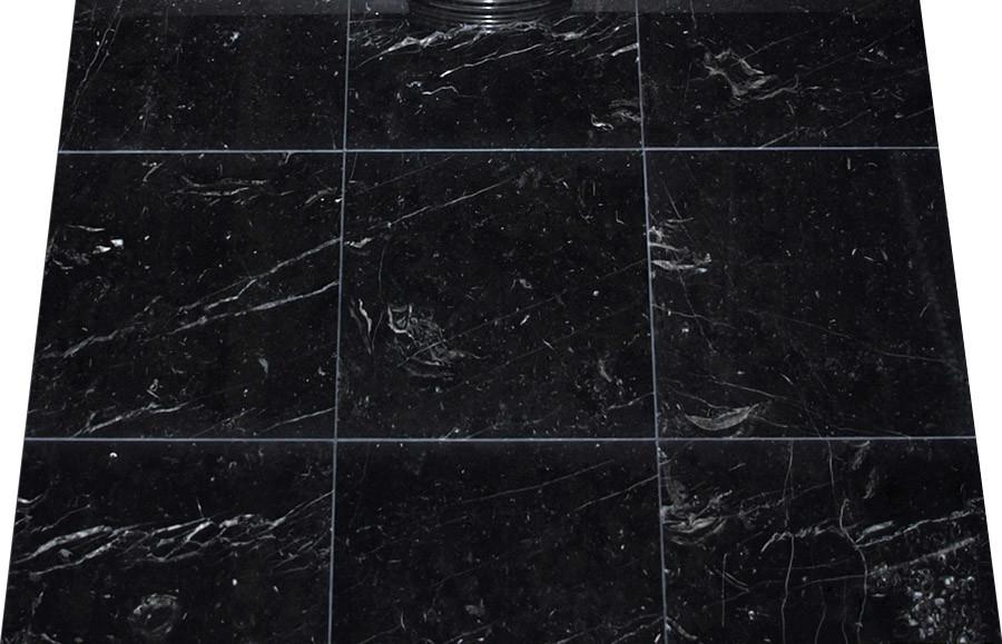 Mattonelle nere di marmo nere di marquina delle mattonelle di