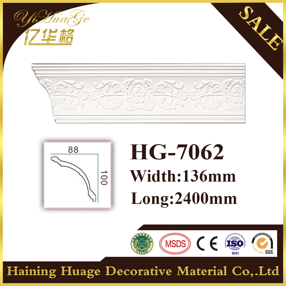 Cornisa de la cornisa Moulding/PU de la corona del poliuretano que moldea para el techo