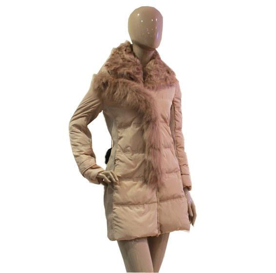Aimiss 어린 양 모직 고리는 아래로 Fox 모피, 호화스러운 여자 재킷 A125211로, 정면 비행거리 꾸민다