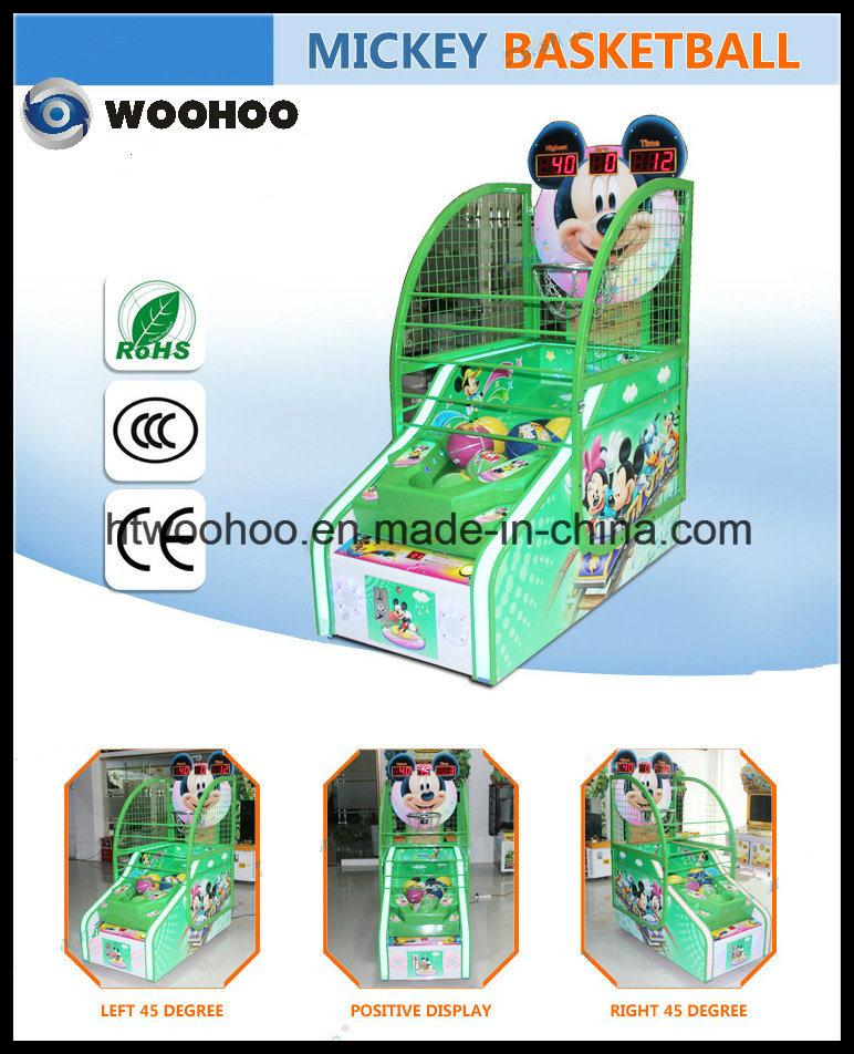 Machine van het Spel van het Basketbal van de Straat van de Machine van het Basketbal van jonge geitjes de Muntstuk In werking gestelde