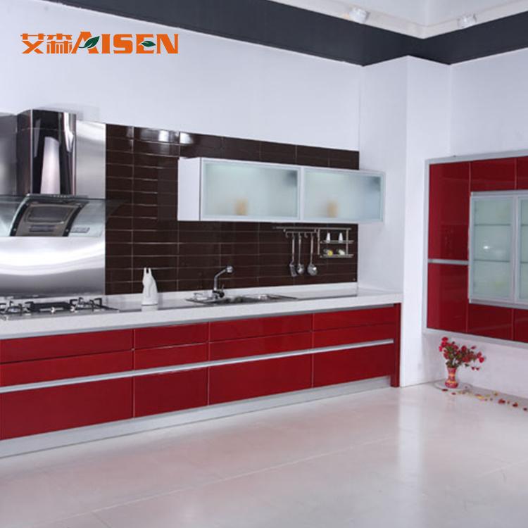 Armadio da cucina moderno variopinto rosso 2018, mobilia della ...