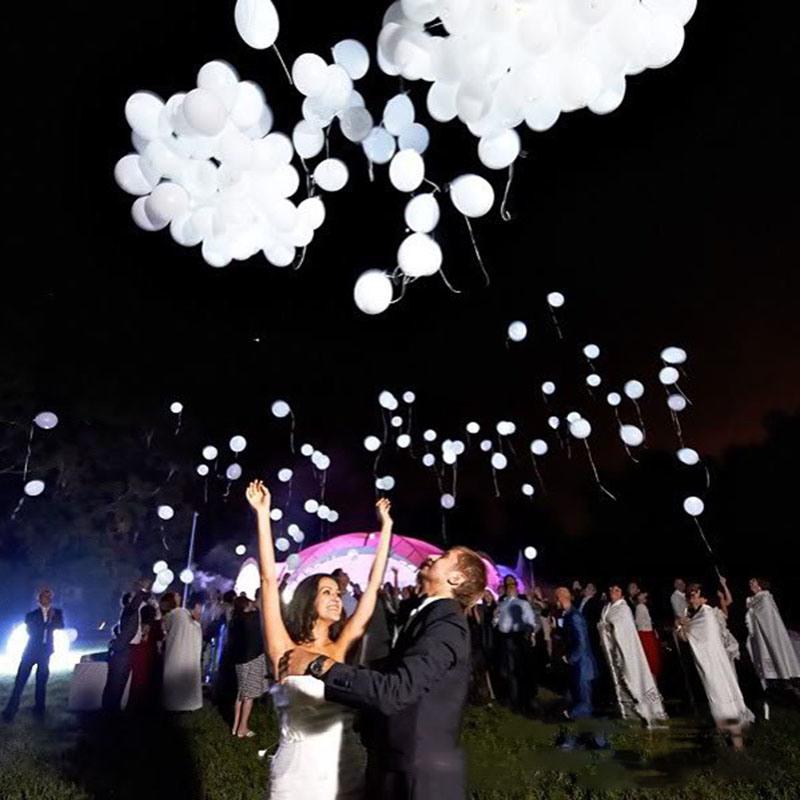 LED-Ballon-Licht-Kugel-Hinauftreiben von Aktienkursen leuchtender Latex-Stickstoff Weihnachtshalloween-Dekor-Hochzeits-Geburtstagsfeier Baloons Zubehör