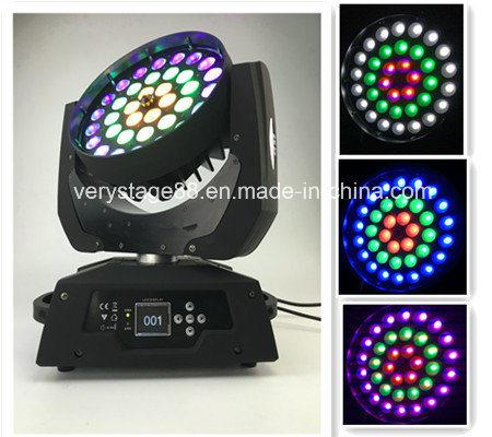 반지 원형 통제 LED 이동하는 맨 위 세척 급상승 RGBWA UV 36X18W LED 급상승 이동하는 맨 위 빛