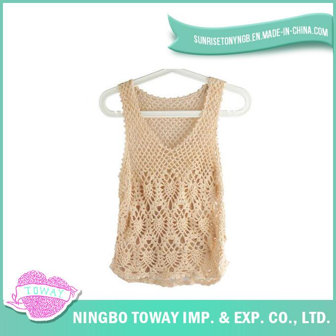 Foto de Chaleco Chaqueta de Mujer moda Crochet tejer lana suéter ...