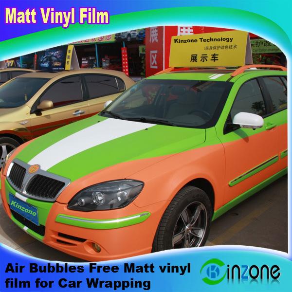 AIR//SANS BULLES Mat du véhicule Tous Tailles Gloss Vert Vinyle Wrap Voiture Film